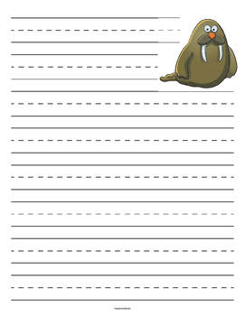 Walrus Primary Lined Paper