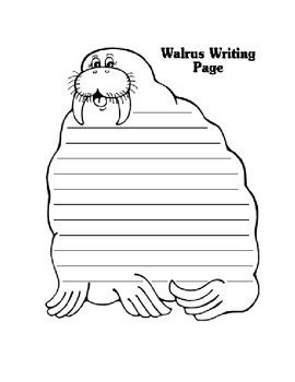 Walrus writing template
