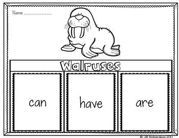 Walruses Writing Flap Books!