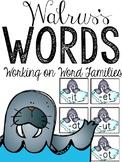 Walrus's Words: 3 Activities For CVC Word Families (-at, -et, -it, -ot, -ut)