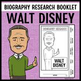 Walt Disney Biography Research Booklet