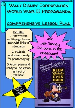 Walt Disney Cartoons World War II Propaganda Comprehensive Lesson Plan