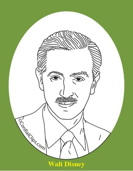 Walt Disney Clip Art Coloring Page Or Mini Poster By Cordial Clips