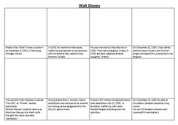 Walt Disney Comic Strip and Storyboard