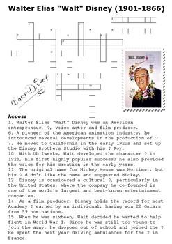 Walt Disney Crossword