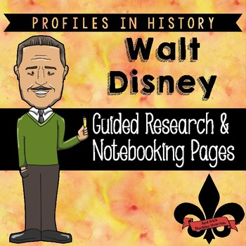 Walt Disney Guided Research Activity