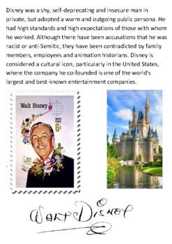 Walt Disney Handout