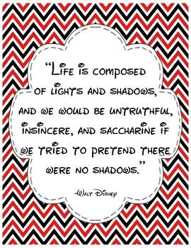 Walt Disney Inspirational Quotes - Classic Colors