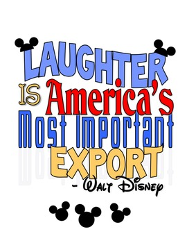Walt Disney Laughter Quote Printable