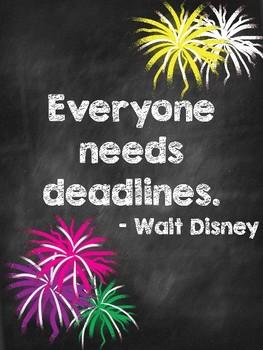 Walt Disney Quotes Poster Set