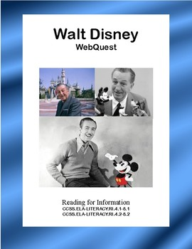Walt Disney-WebQuest