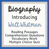 Walt Whitman Leaves of Grass Poet Biography, Activities