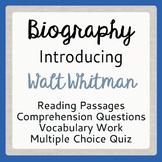 Walt Whitman Leaves of Grass Poet Biography, Activities