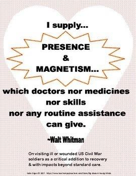 Walt Whitman-A Poet for Patient-Centered Care:  MINI LESSON health, history, ELA