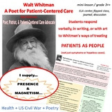 Walt Whitman-A Poet for Patient-Centered Care:  MINI LESSO