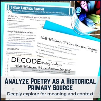 Walt Whitman I Hear America Singing Poetry Analysis