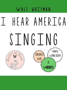 "Walt Whitman ""I Hear America Singing"" Poetry Analysis and"