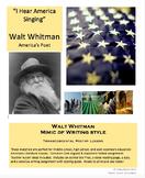 "Walt Whitman Mimic Poem of ""I Hear America Singing"""