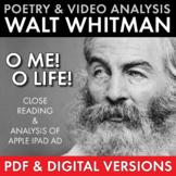 Walt Whitman, O Me! O Life!, Poetry Analysis & Non-Fiction