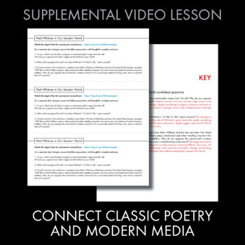 Walt Whitman, O Me! O Life!, Poetry Analysis & Non-Fiction Media Literacy