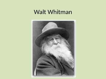 Walt Whitman, Poetry Analysis, and Literary Terms