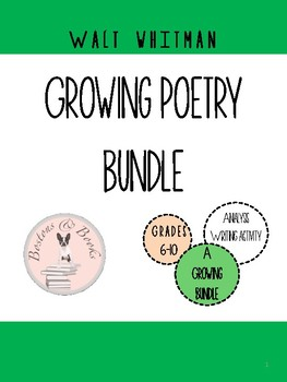 Walt Whitman Poetry Growing Bundle
