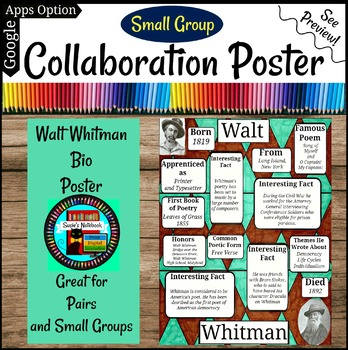 Walt Whitman Poetry Collaboration Group or Individual Poster