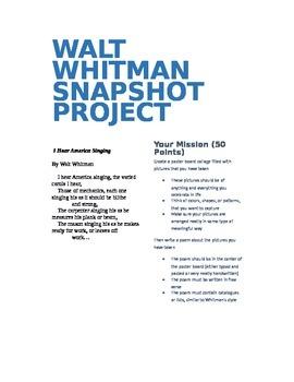 Walt Whitman Snapshot Project
