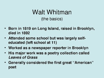 Walt Whitman introduction