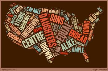 "Walt Whitman's ""America"" Word Cluster"