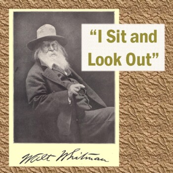 """Walt Whitman's """"I Sit and Look Out"""": Poem, Reading Questions, & Key"""