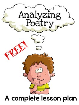 Free Poetry Lesson: Analysing Poetry (NO PREP)