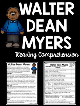 Walter Dean Myers Reading Comprehension Worksheet; Poetry; Monster, Scorpions
