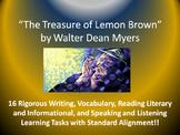 "Walter Dean Myers's ""The Treasure of Lemon Brown"" – 16 Common Core Tasks!!"
