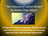 "Walter Dean Myers's ""The Treasure of Lemon Brown"" – 16 Common Core Tasks!!"