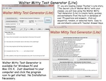 Walter Mitty Test Generator Lite for Mac OS X