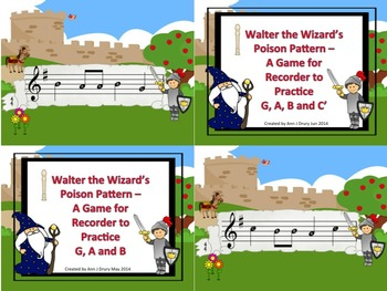 Walter the Wizard's Poison Pattern - A Bundle of Games to Practice the Recorder