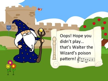 Walter the Wizard's Poison Pattern - Recorder Game for Practicing B,A,G,C and D'