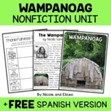 Wampanoag Activities Nonfiction Unit
