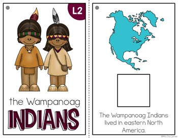 Wampanoag Indians Adapted Book { Level 1 and Level 2 } All About the Indians