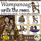 Wampanoag Indians Write the Room - 16 cards four versions, four recording sheets