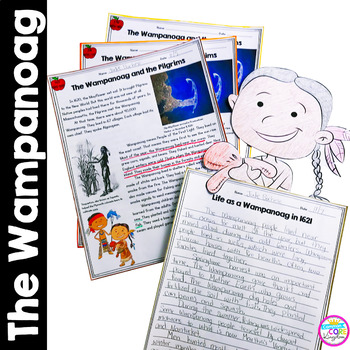 Wampanoag People Differentiated Reading and Writing Activities