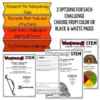 Wampanoag STEM Thanksgiving Challenges