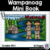 Wampanoag Tribe Mini Book for Early Readers - Native American Activities