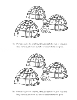 Wampanoag Tribe - Printable Booklet