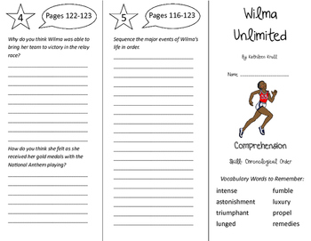 Wilma Unlimited Trifold - Storytown 6th Grade Unit 1 Week 4