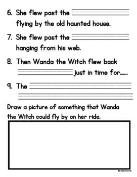 Wanda the Witch's Halloween Easy Reader and Student Writing Template