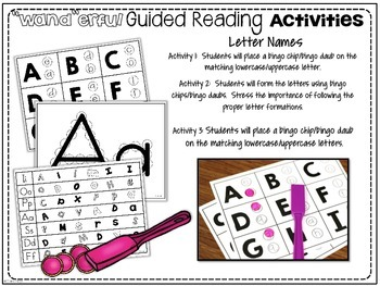 """""""Wand""""erful Guiding Reading Activities"""