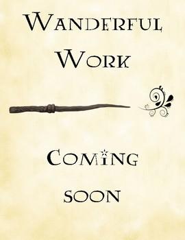 Wanderful Work Coming Soon - FREEBIE
