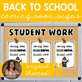 Coming Soon Poster FREEBIE for Back to School Bulletin Boards (Wizard Themed)